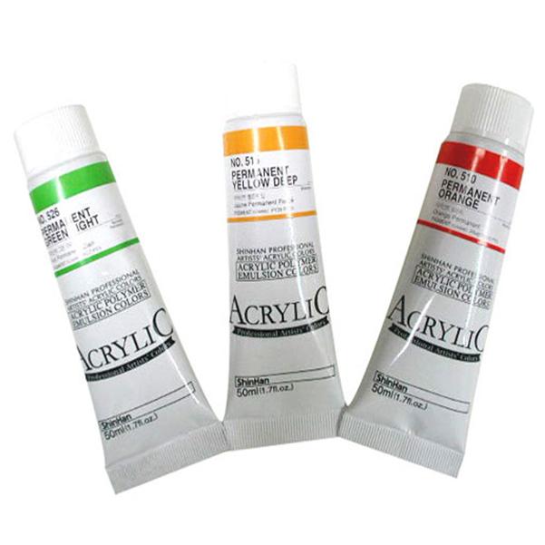 신한 아크릴물감 낱색 50ml (색상선택) - 42680